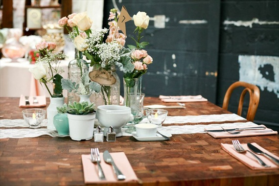 DIY Wedding Ideas: Centerpieces | photo by Meghan Christine Photography