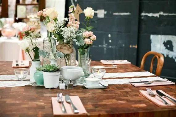 DIY Wedding Ideas: Centerpieces | photo by Meghan Christine Photography