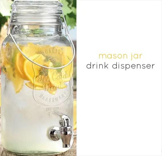7 Tips for Mason Jar Drinking Glasses - Mason Jar Drink Dispenser