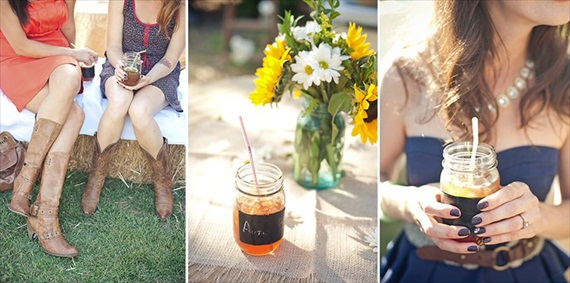 7 Tips for Mason Jar Drinking Glasses (photo via Marcella Treybig blog)
