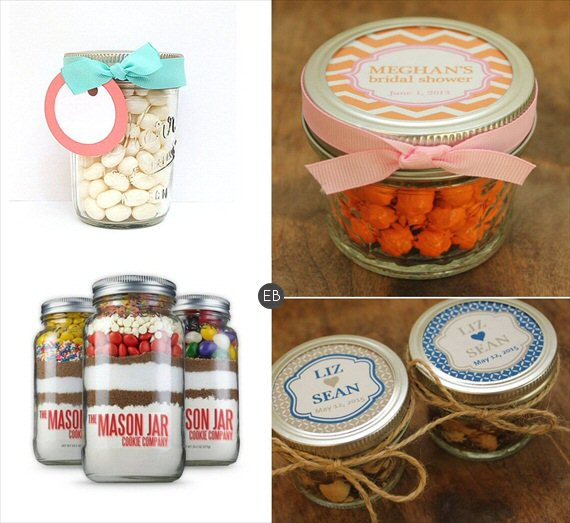 Mason Jar Glasses - #edible #wedding #favors #mason #jar
