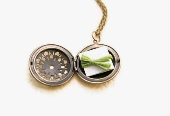 locket with note inside - personalize