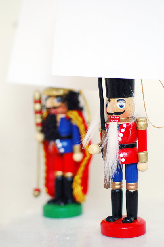 mini nutcracker place card holders, favors