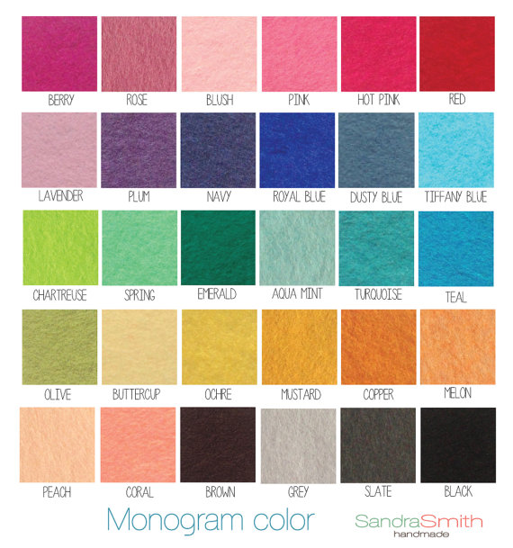 monogram text colors