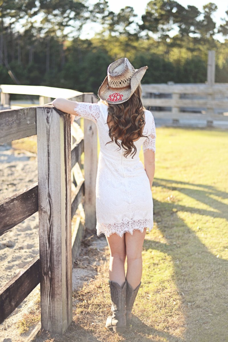 monogram wedding cowboy hat