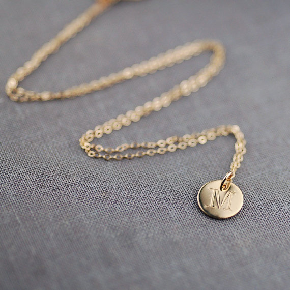 handcrafted jewelry (by lily emme jewelry) - monogrammed necklace