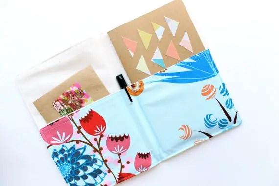 notepad organizer floral via newly engaged gift idea at EmmalineBride.com