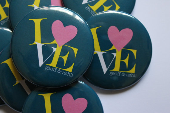LOVE Wedding - Favor Buttons