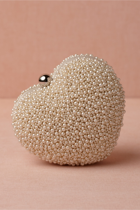 pearl covered clutch via 27 Amazing Anniversary Gifts by Year