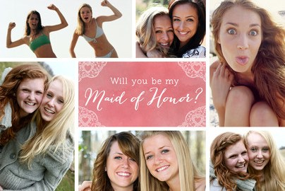 personalized be my maid of honor card