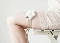 personalized bridal garter