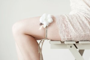 personalized bridal garter