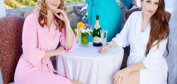 personalized bridal robe