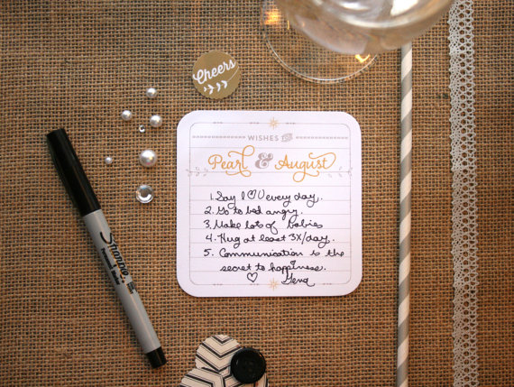 personalized wedding coasters