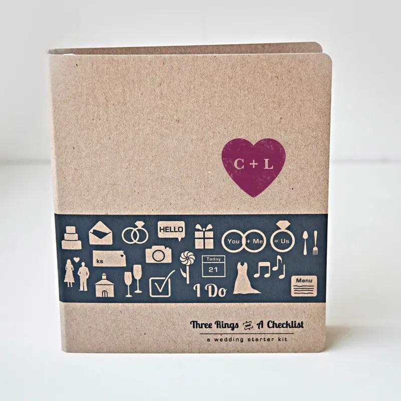 personalized wedding planner binder