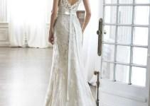 pia sheath wedding dress back