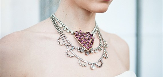 pink heart necklace - The Ritzy Rose