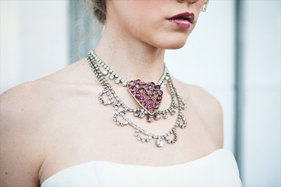 Hot Pink Heart Necklace - The Ritzy Rose 2013 Collection (via EmmalineBride.com)
