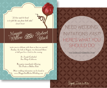 need wedding invitations fast? try this!