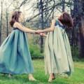 pleated flower girl dresses