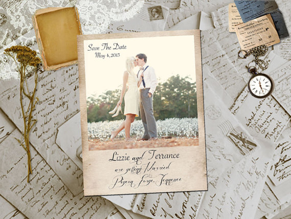 Polaroid Wedding Save the Date (by Fifth Vintage)
