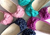 colorful polka dot flower girl shoes | handmade flower girl shoes via http://emmalinebride.com/spring/handmade-flower-girl-shoes/