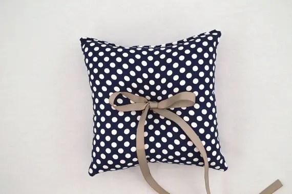 polka dot wedding ring pillow   via polka dot wedding ideas http://emmalinebride.com/themes/polka-dot-wedding-ideas-handmade/