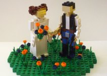lego wedding cake topper - princess leia