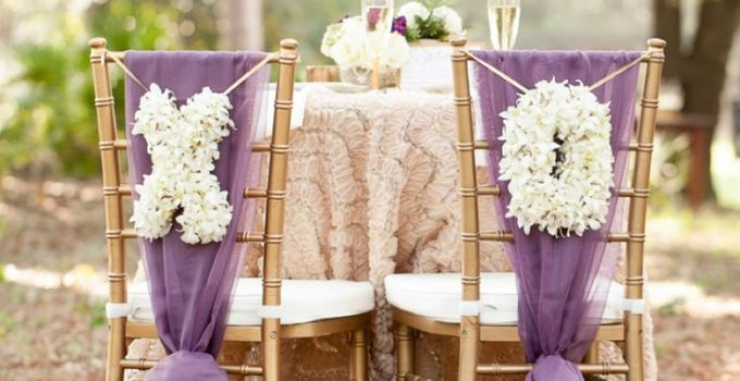 purple chair decor and white floral x and o