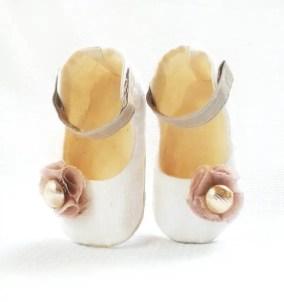 rose flower girl shoes