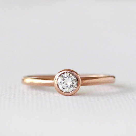 rose gold engagement ring right