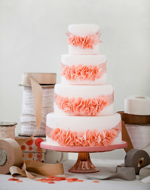 rosettes wedding cake