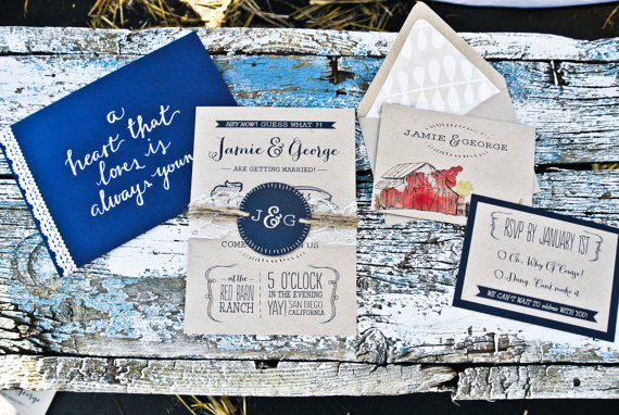 barn wedding ideas - barn wedding invitation