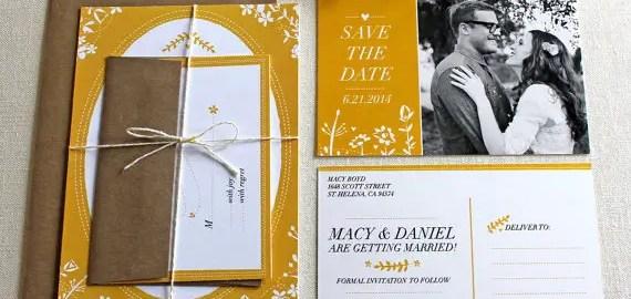 rustic folk wedding invitations