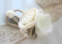 rustic lace flower sash