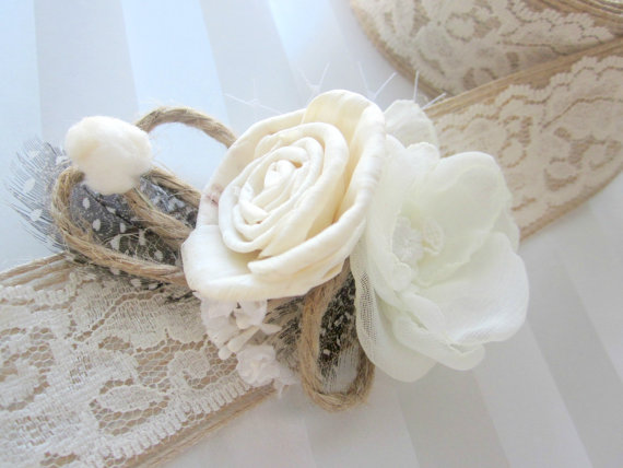 rustic boutonniere and flower sash giveaway