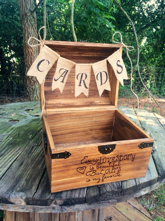 rustic wedding card box country barn babe