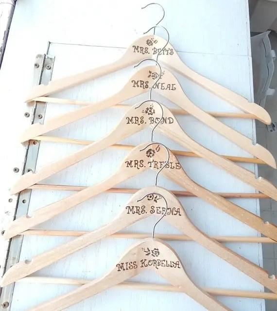 rustic wedding dress hangers
