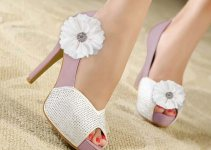 Fabric Flower Shoe Clips