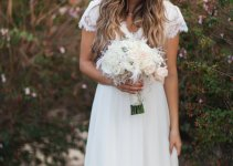 short sleeve wedding dress gown lace