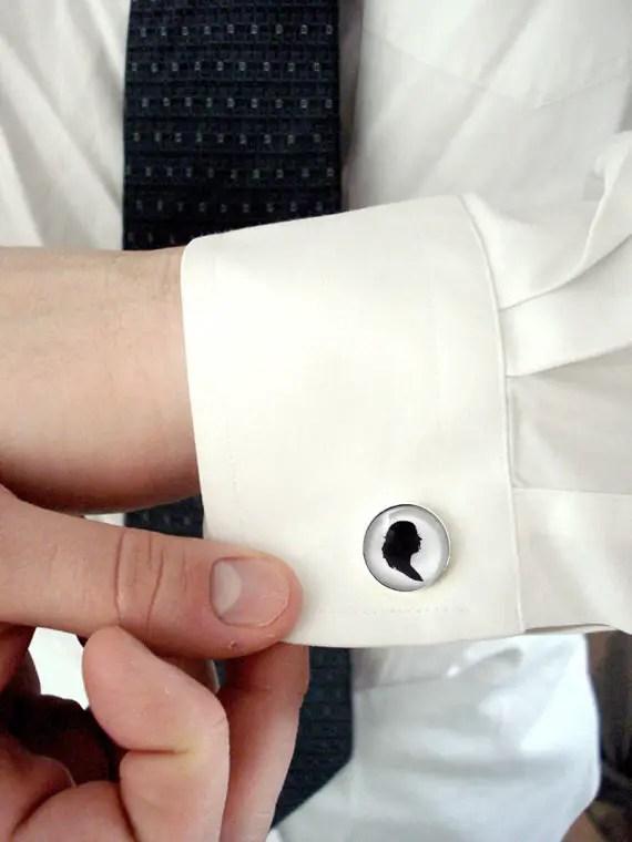 silhouette cufflinks