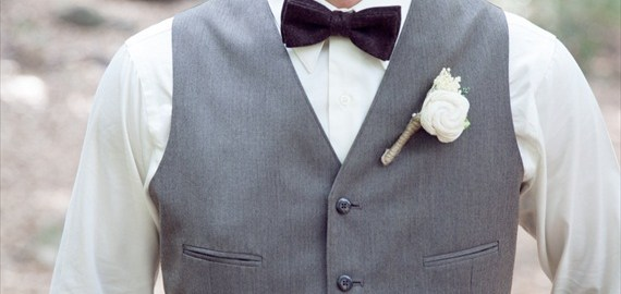 sola flower rustic wedding boutonniere