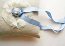 something blue - custom ring pillow