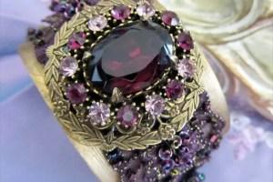 sparkly purple bracelet