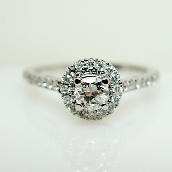 sparkly round engagement ring