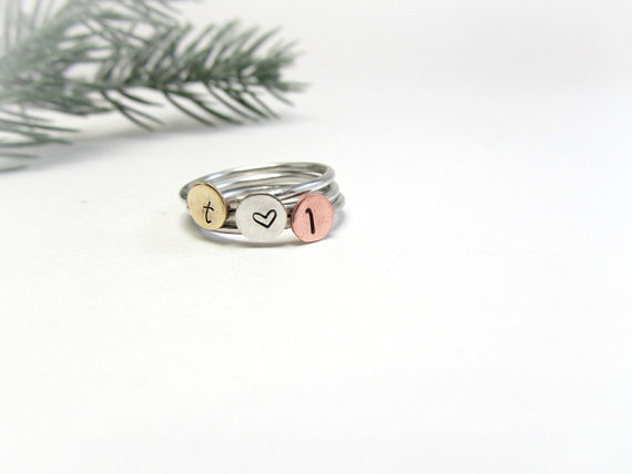 stackable rings via 27 Amazing Anniversary Gifts by Year http://emmalinebride.com/gifts/anniversary-gifts-by-year/