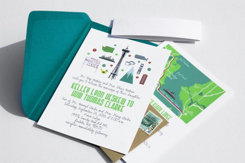 state themed wedding invitations via 25 State Ideas That Will Make Your Big Day More Awesome