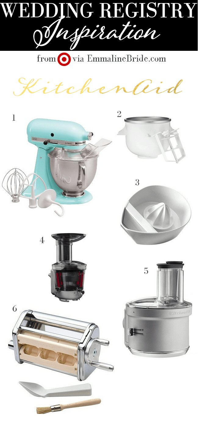 target wedding registry must-haves kitchenaid