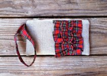 christmas wedding tartan plaid purses