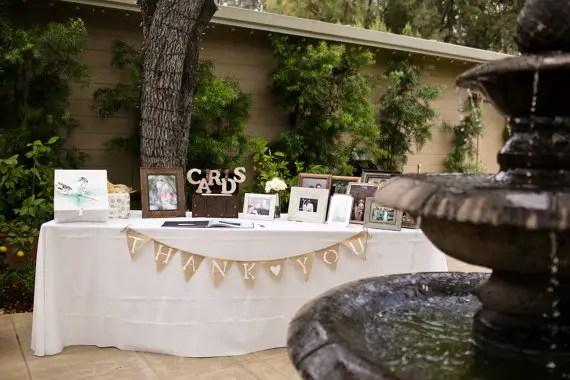 Burlap Wedding Banners - thank you